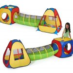 Pop Up Play Tent for Toddlers | UTEX 3-in-1 Tent With Tunnel and Ballpit