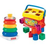 Newborn Baby Toy Set | Rock-A-Stack+Baby's 1st Blocks Bundle
